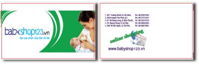 206 15 mau card visit shop baby me va be